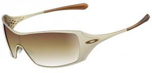 Lindíssima armação de óculos de sol da Oakley Dart Gold
