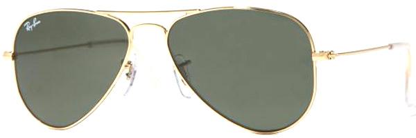 Modelo: Óculos Ray Ban RB3044 Small Metal Aviator Arista / Crystal Gray (L0207)