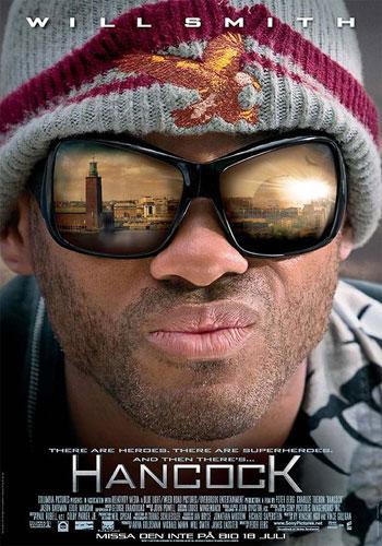 Cartaz do Filme Hancock onde Will Smith usa óculos Dior