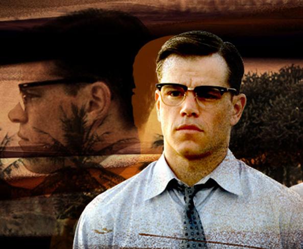 Matt Damon veste óculos Shuron Ronsir Zyl no filme O Bom Pastor