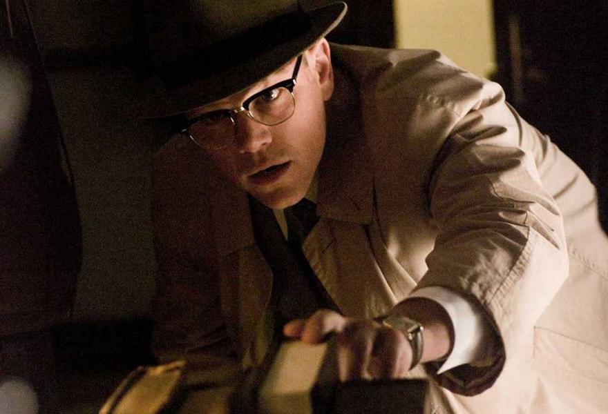 Matt Damon no filme O Bom Pastor usando óculos Shuron Ronsir Zyl