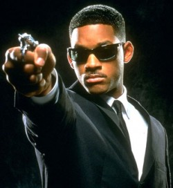 Will Smith usando óculos Ray Ban RB2030 no filme Homens de Preto