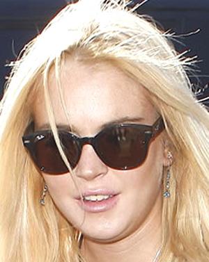 Lindsay Lohan Óculos Rayban RB4141