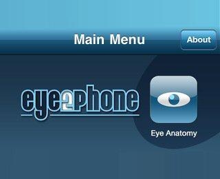 Aplicativo de Oftalmologistas para iPhone - EYE2PHONE
