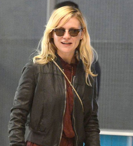 Kirsten Dunst usa Ray-Ban RB3016 CLUBMASTER