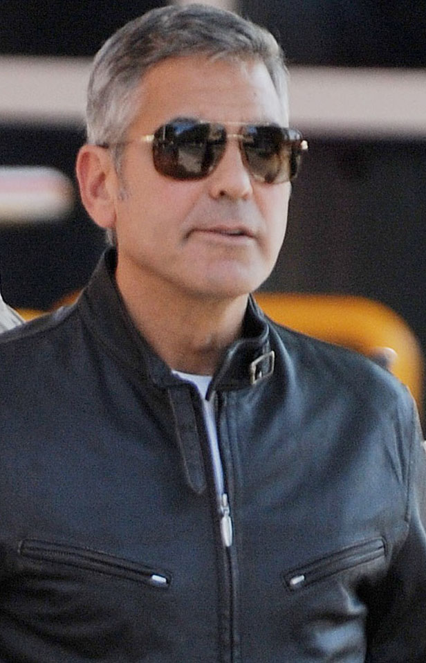 George Clooney usa Ray-Ban RB3477