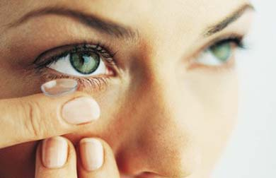 Cegueira e lentes de contato