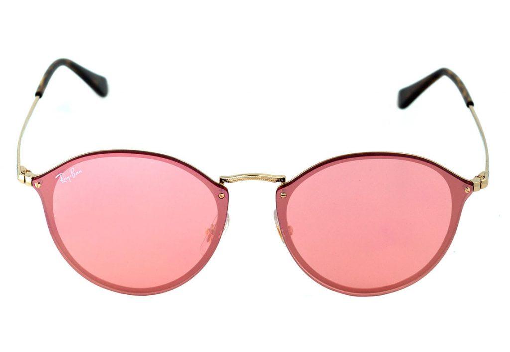 5aa91dfabeb52 O óculos de sol RB 3574 Blaze traz a frontal feita em uma lente flat que é  uma tendência muito forte! Esse modelo é muito leve e sua armação feita em  liga ...