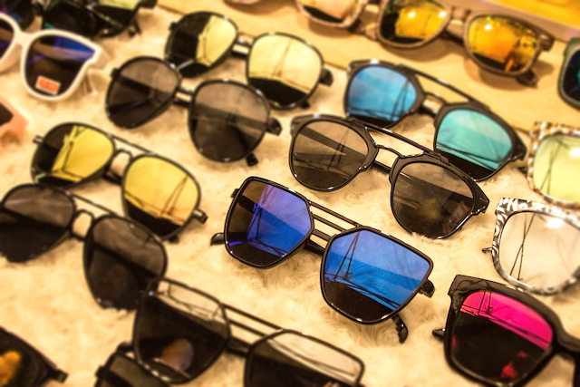 lentes de óculos coloridas