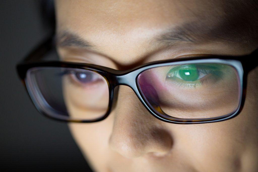lentes antirreflexo verde