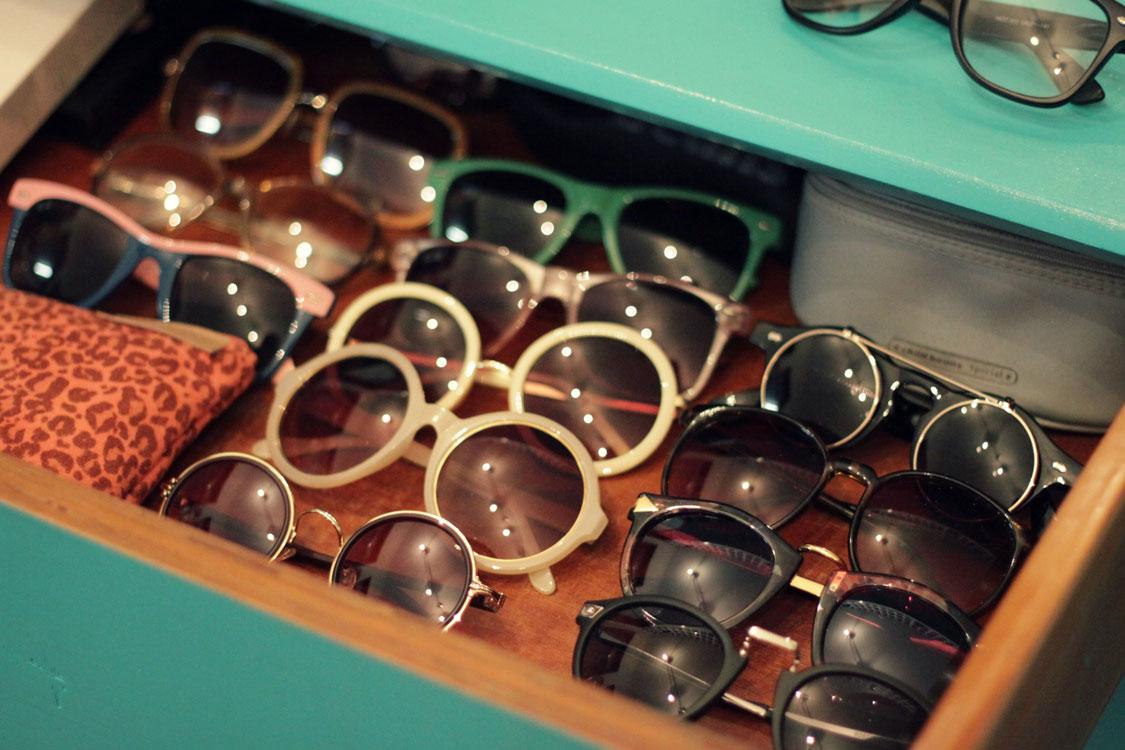 como guardar óculos